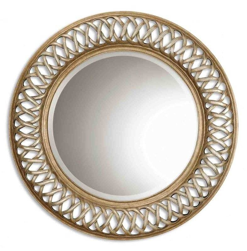 Fields Round Oversized Wall Mirror & Reviews | Joss & Main For Round Silver Mirrors (#11 of 30)