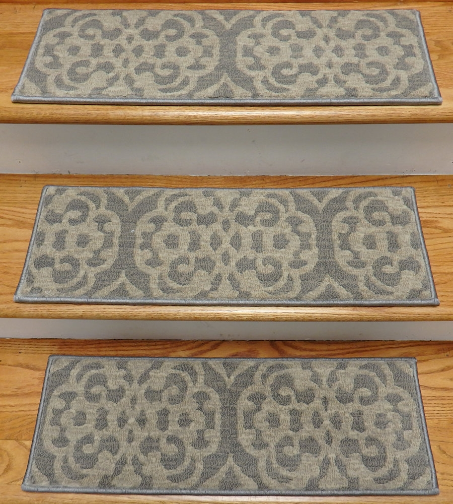 Finished Carpet Stair Treads Tread Sets For Stairs Carpet Treads Intended For Country Stair Tread Rugs (View 3 of 20)