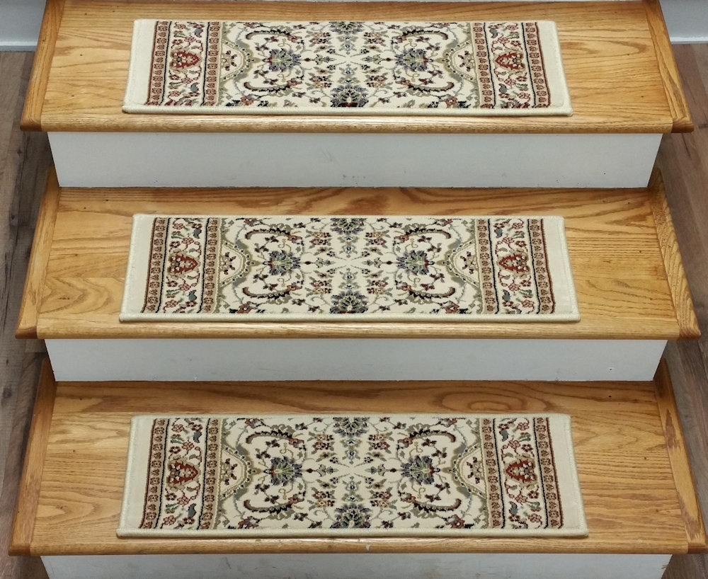 Finished Carpet Stair Treads Tread Sets For Stairs Carpet Treads Pertaining To Rectangular Stair Tread Rugs (#9 of 20)