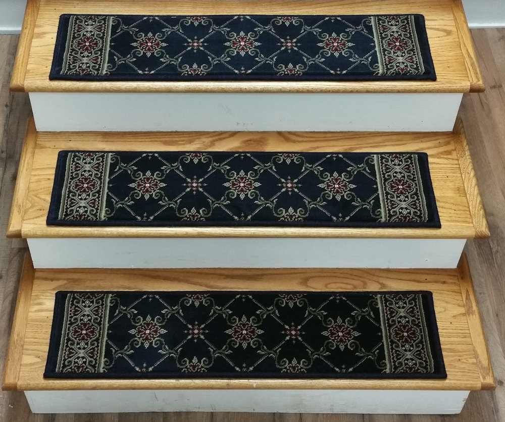 Finished Carpet Stair Treads Tread Sets For Stairs Carpet Treads Within Set Of 13 Stair Tread Rugs (#9 of 20)