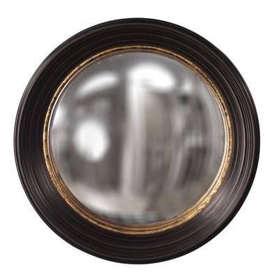 Fleur De Lis Living Convex Round Brown Wall Mirror & Reviews | Wayfair Pertaining To Round Convex Wall Mirrors (#21 of 30)