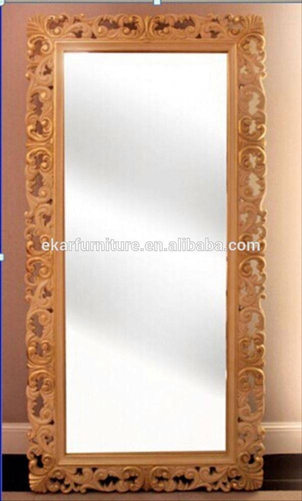 Floor Standing Wooden Frame Vintage Standing Mirror – Buy Standing Pertaining To Vintage Standing Mirrors (View 20 of 30)