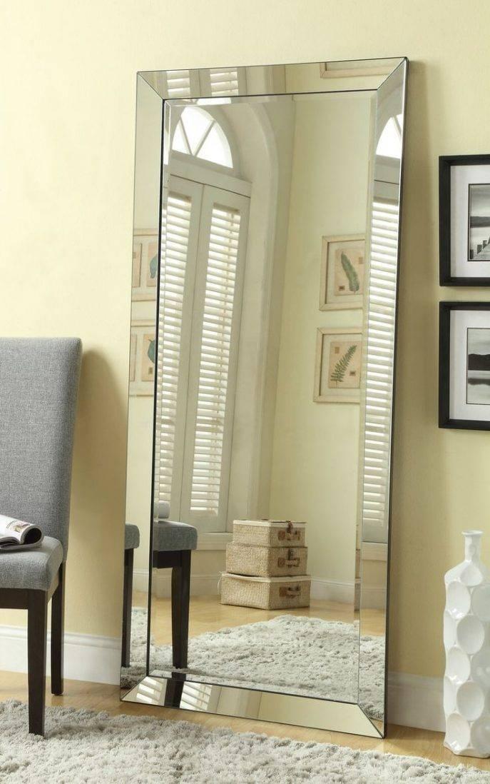 Flooring : Full Length Floor Mirror Black Standing Mirrors Intended For Black Floor Standing Mirrors (#18 of 30)