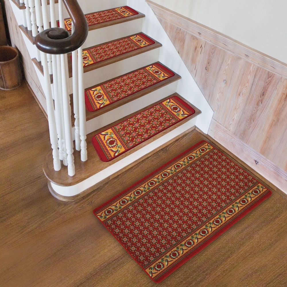 Flooring Pretty Stair Treads Carpet For Stair Decoration Idea For Stair Tread Carpet Protectors (#9 of 20)