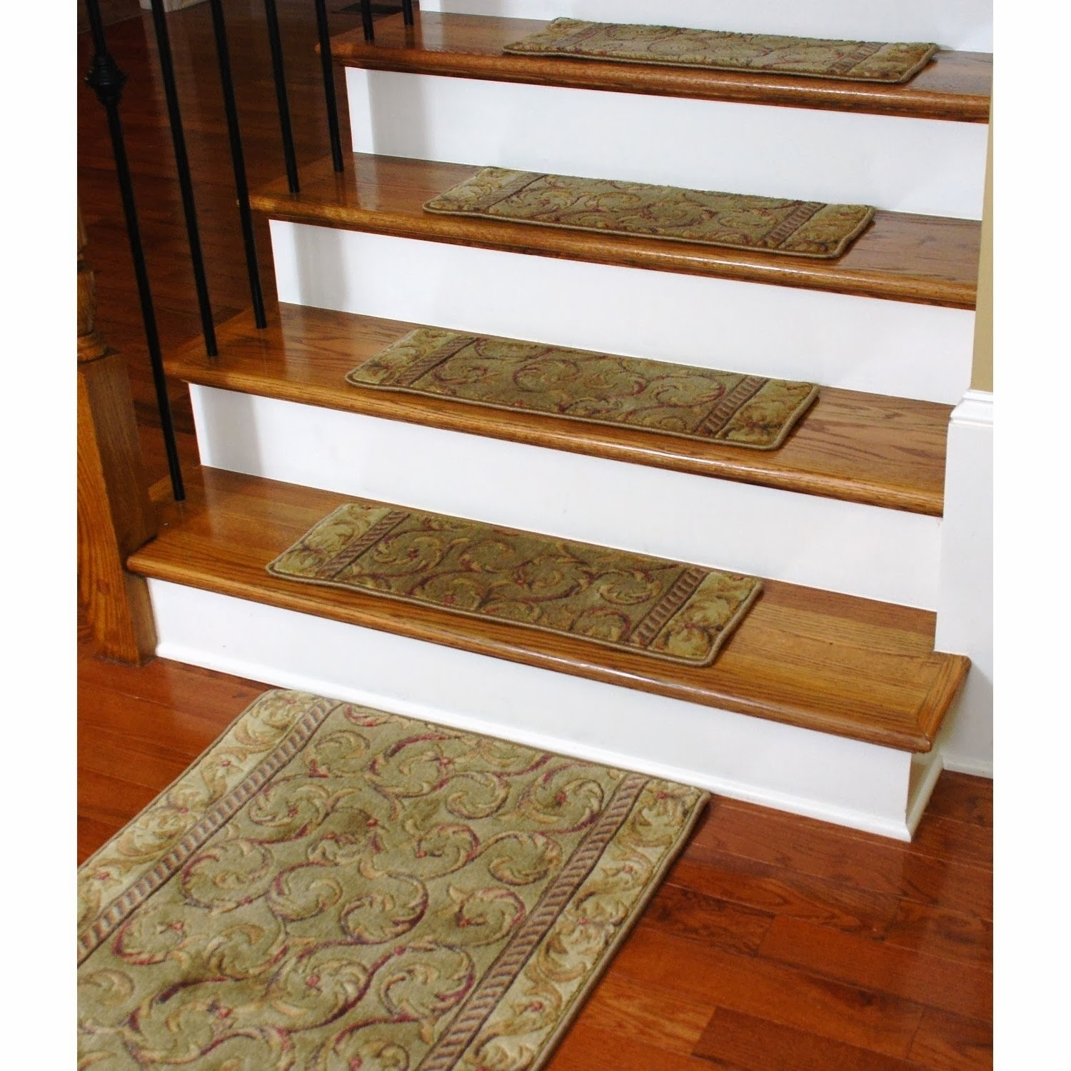 Flooring Pretty Stair Treads Carpet For Stair Decoration Idea For Stair Treads Braided Rugs (#14 of 20)