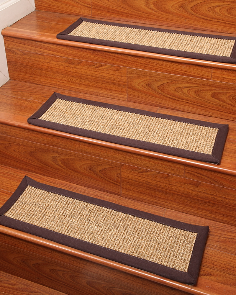 Flooring Pretty Stair Treads Carpet For Stair Decoration Idea In Natural Stair Tread Rugs (#6 of 20)