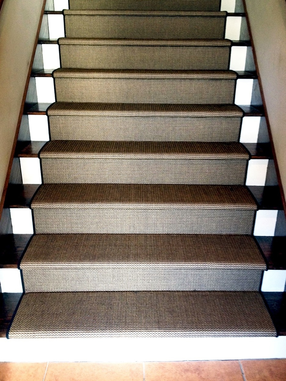 Flooring Pretty Stair Treads Carpet For Stair Decoration Idea In Stair Tread Carpet Tiles (#11 of 20)