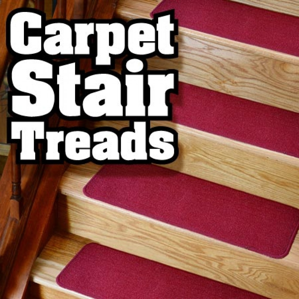 Flooring Pretty Stair Treads Carpet For Stair Decoration Idea Inside Carpet Stair Treads Set Of  (#13 of 20)