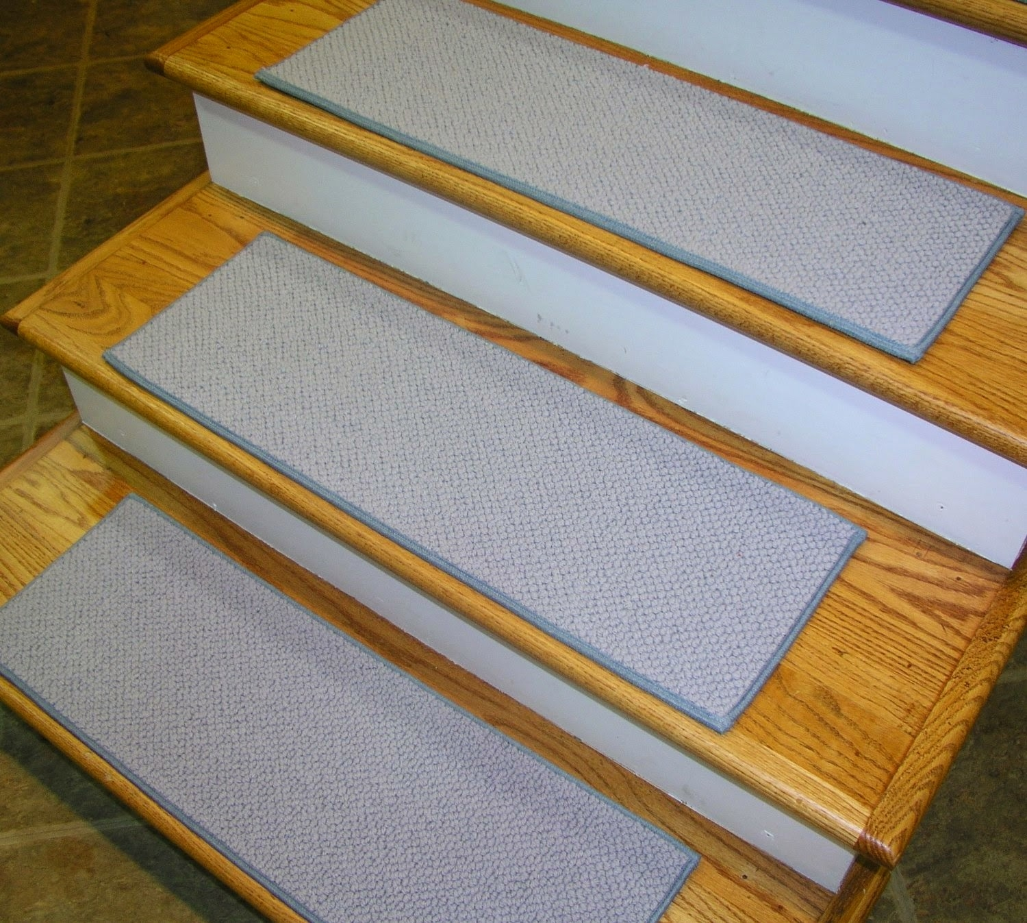 Flooring Pretty Stair Treads Carpet For Stair Decoration Idea Inside Stair Tread Carpet Tiles (#12 of 20)