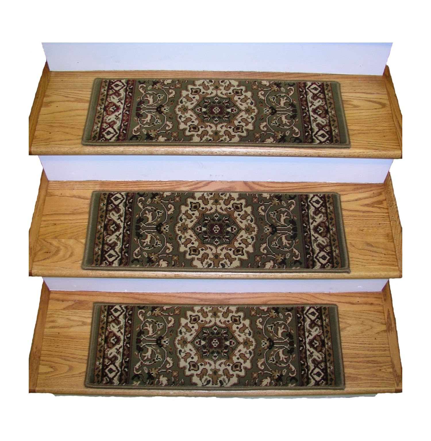 Flooring Pretty Stair Treads Carpet For Stair Decoration Idea Pertaining To Oriental Carpet Stair Treads (#5 of 20)