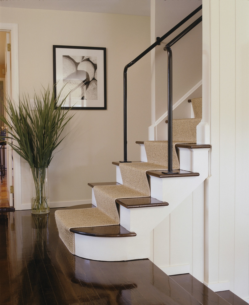 Flooring Pretty Stair Treads Carpet For Stair Decoration Idea Throughout Natural Stair Tread Rugs (View 7 of 20)
