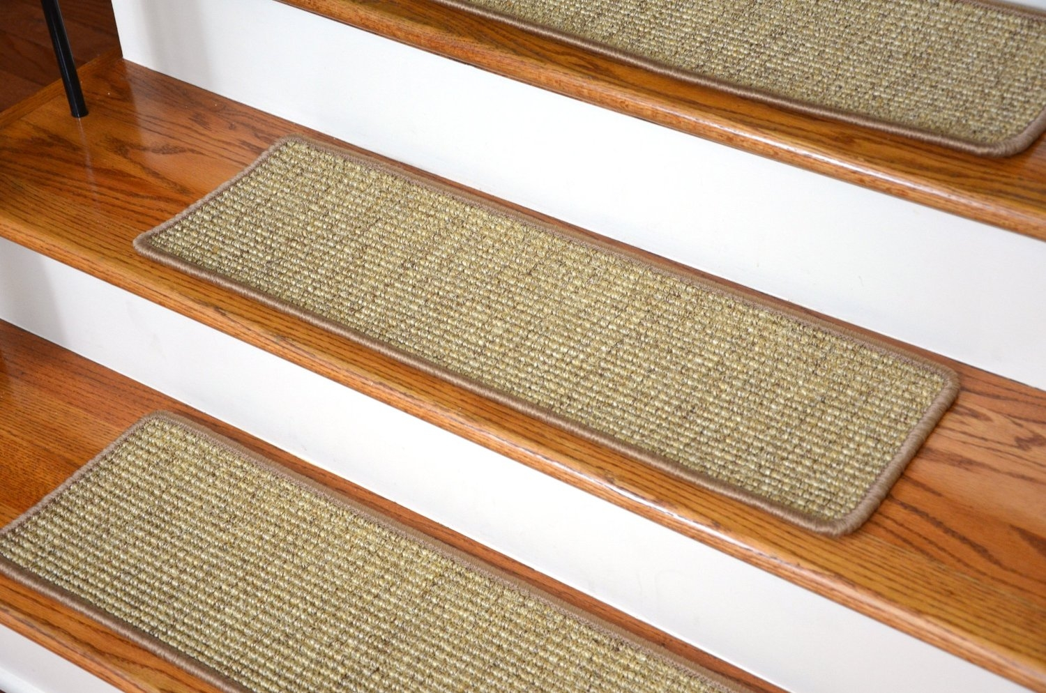 Flooring Pretty Stair Treads Carpet For Stair Decoration Idea Throughout Sisal Stair Tread Rugs (#8 of 20)