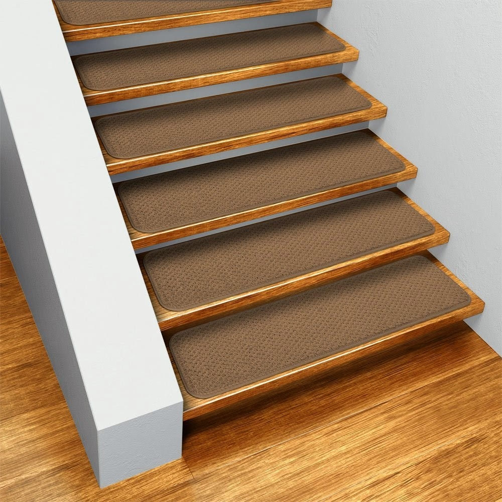 Flooring Pretty Stair Treads Carpet For Stair Decoration Idea Throughout Stair Tread Carpet Tiles (#13 of 20)