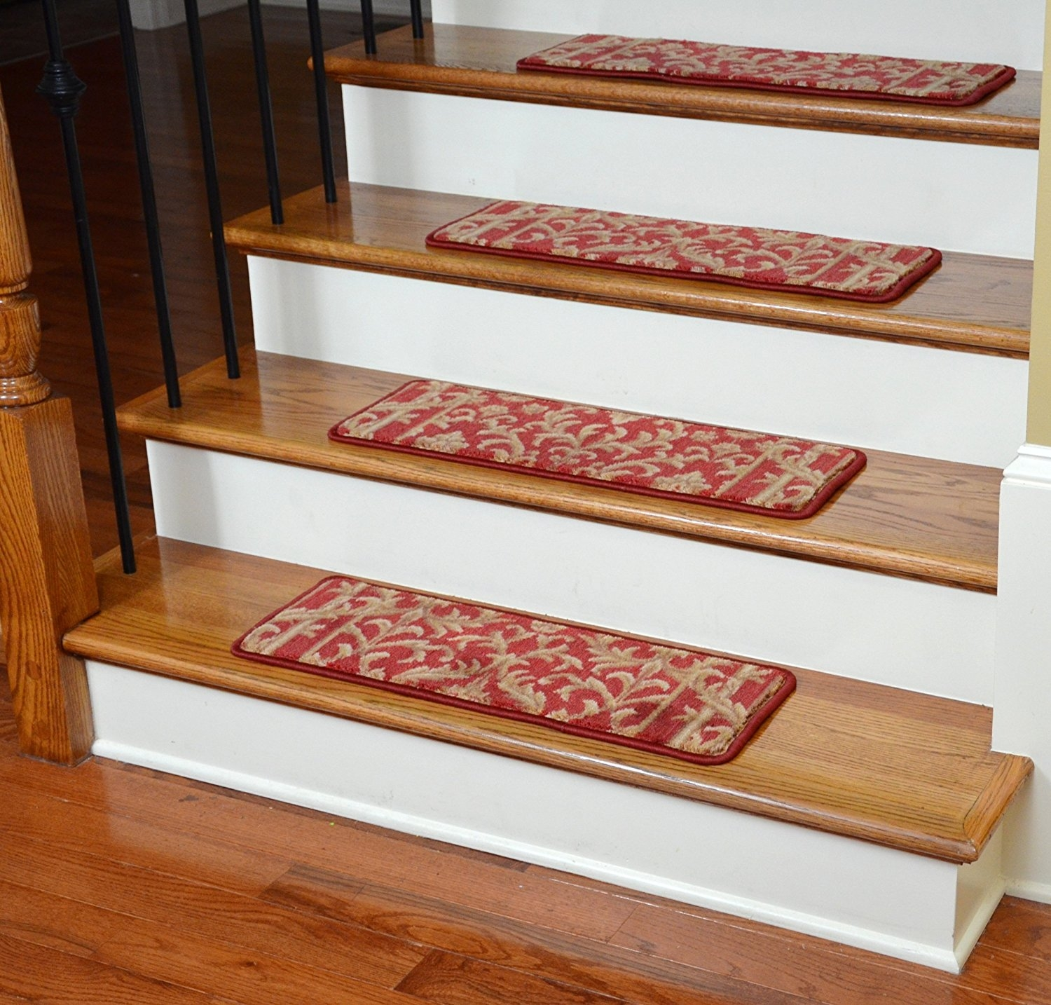 Flooring Pretty Stair Treads Carpet For Stair Decoration Idea Throughout Wool Stair Rug Treads (#14 of 20)