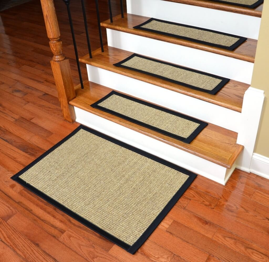 Flooring Yellow Non Slip Stair Treads For Concrete Steps Where To With Regard To Stair Tread Carpet Adhesive (#15 of 20)