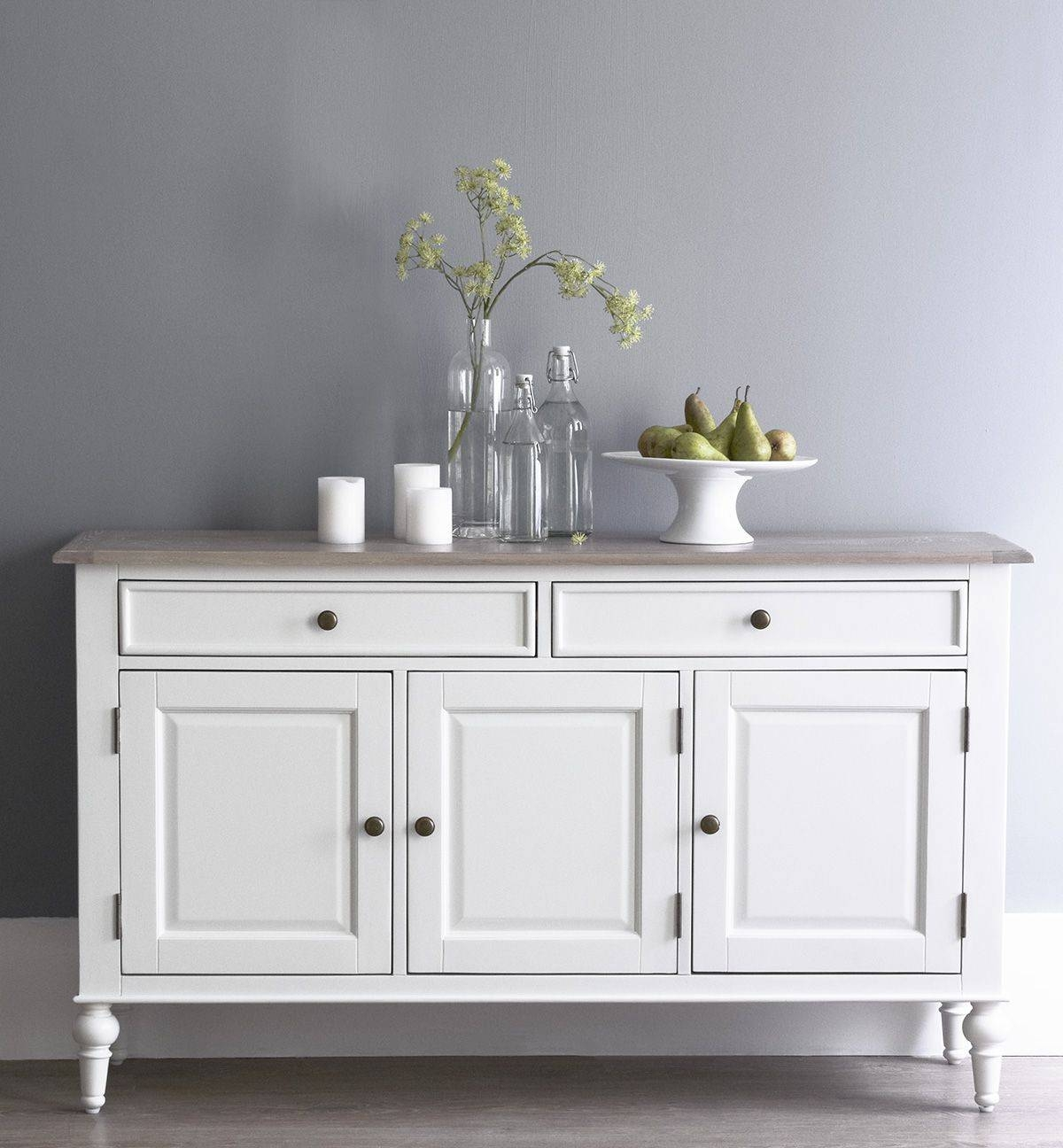 Florence White Large Sideboard For Large White Sideboard (#5 of 20)