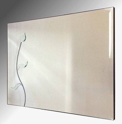 Flower Wall Mirror 92X61Cm Bevelled Frameless Mirror Inside Bevelled Mirrors (#12 of 20)