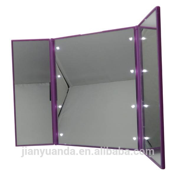 Foldable Three Sides Table Cosmetic Mirror / Small Compact Custom Pertaining To Free Standing Table Mirrors (#15 of 30)