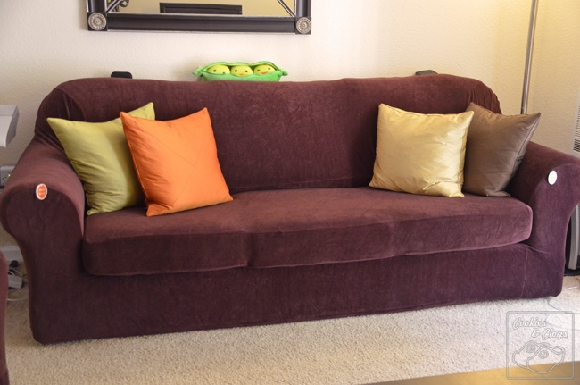 Form Fit Vs Relaxed Sure Fit Surefit Furniture Covers Sofa Loveseat With 2 Piece Sofa Covers (#8 of 15)