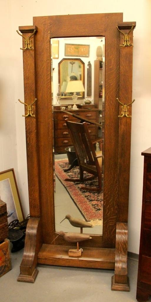 Found In Ithaca » Antique Mission Oak Arts & Crafts Cheval Mirror In Antique Oak Mirrors (#16 of 20)