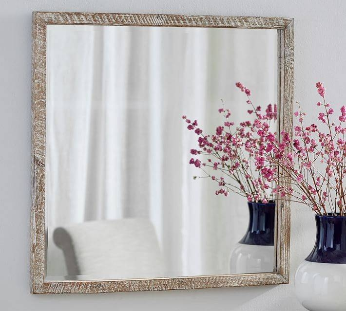 Foundry Square Wall Mirror | Pottery Barn With Regard To Square Wall Mirrors (View 18 of 20)