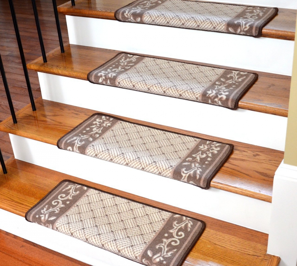 Four Importance Parts To Beautify Staircase Stairs Model With Stair Treads Landing Rug (#7 of 20)