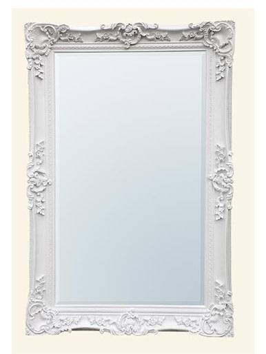 Four Woods Country Hearts: Antique White Floor Standing Mirror Regarding White Antique Mirrors (#14 of 20)