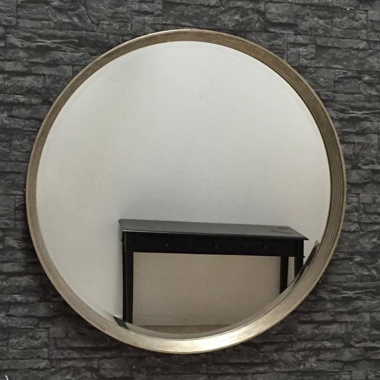 Foyle Large Round Gold Mirror 97 X 97Cm Foyle Round Mirror Antique With Large Round Gold Mirrors (#22 of 30)