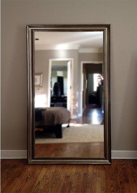 Framed Floor Mirror Intended For Tall Silver Mirrors (#8 of 20)