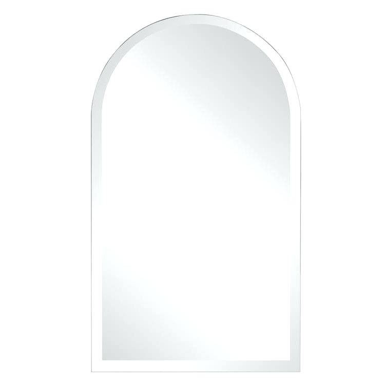 Frameless Arched Wall Mirrorframeless Mirror Home Depot Large Throughout Frameless Arched Mirrors (#13 of 20)