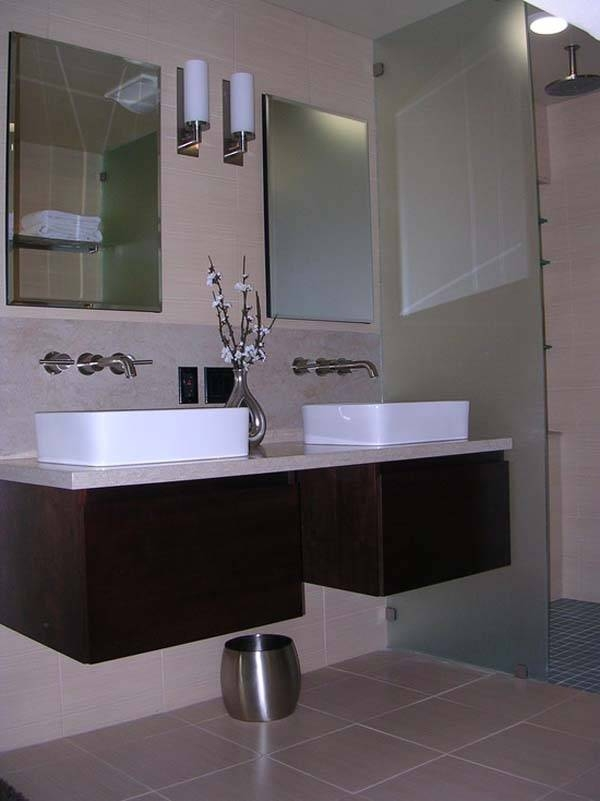 Frameless Bathroom Mirrors For Contemporary Style For Large Frameless Bathroom Mirrors (#16 of 30)