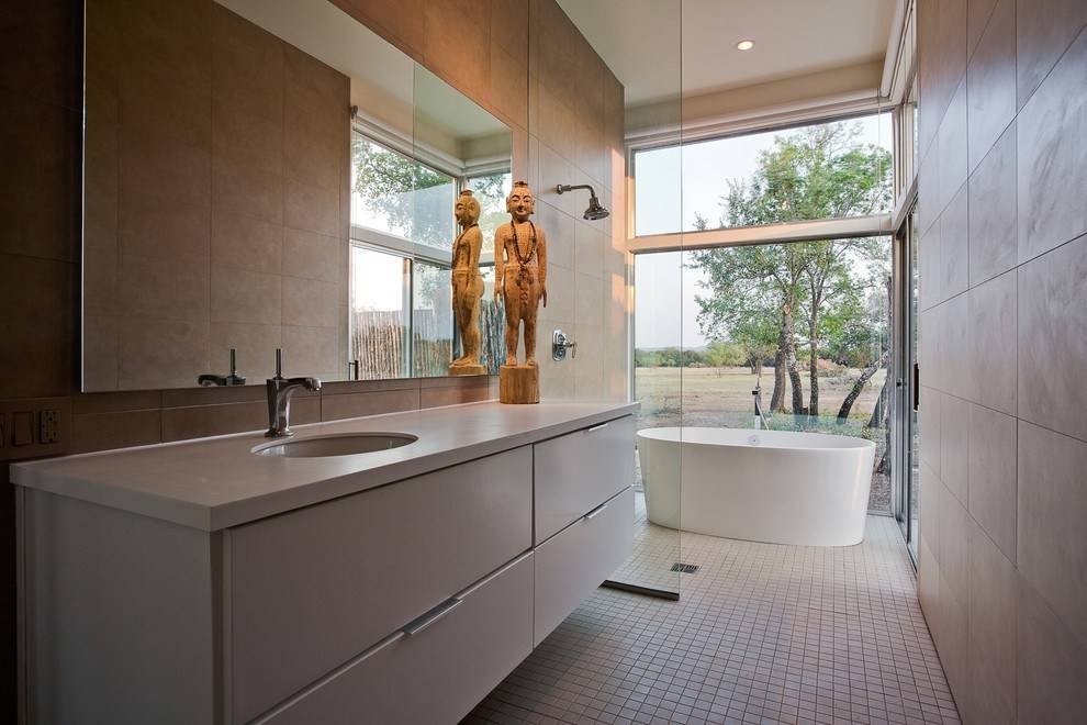 Frameless Bathroom Mirrors – Home Design Ideas And Pictures With Large No Frame Mirrors (#10 of 20)