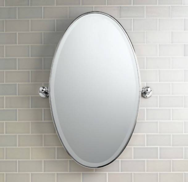 Frameless Oval Bathroom Mirrors And White Oval Bathroom Mirrors With White Oval Bathroom Mirrors (#13 of 20)