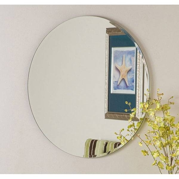 Frameless Round Beveled Mirror – Free Shipping Today – Overstock For Round Bevelled Mirrors (#6 of 20)