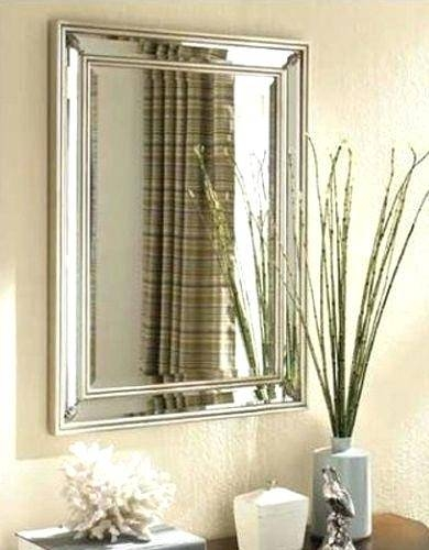 Frameless Wall Mirror For Bathroom Full Length – Shopwiz With Regard To Large Frameless Wall Mirrors (#11 of 20)