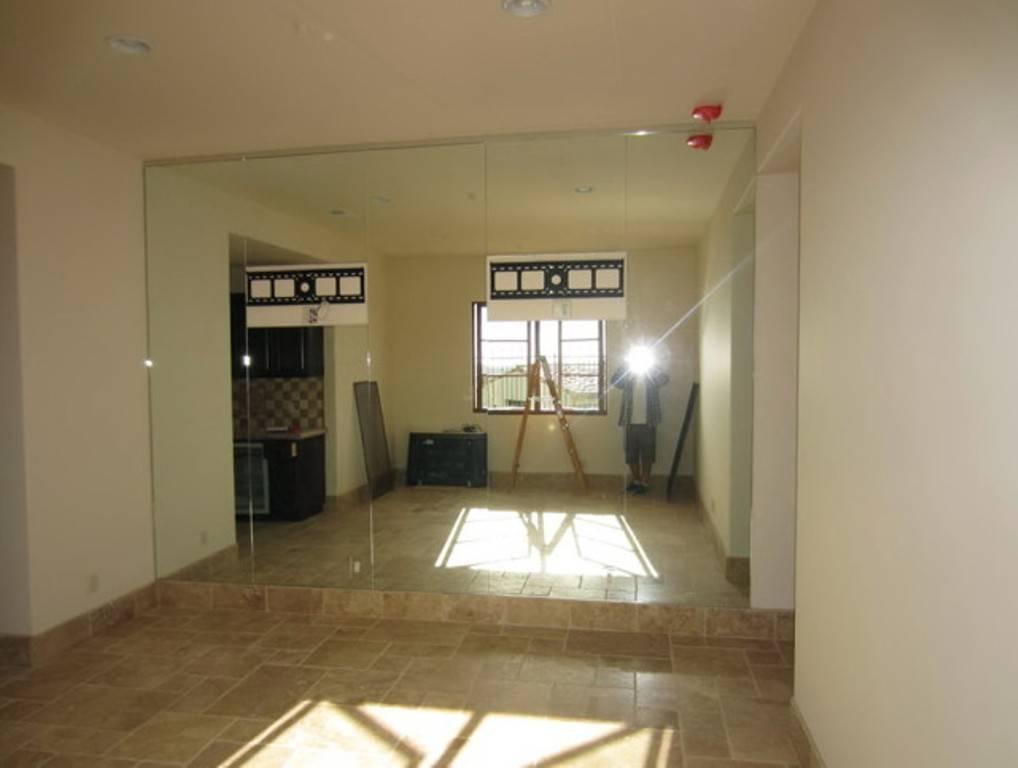 Frameless Wall Mirror For Gym : Doherty House – Elegant Full Wall Inside Full Length Frameless Mirrors (#11 of 20)