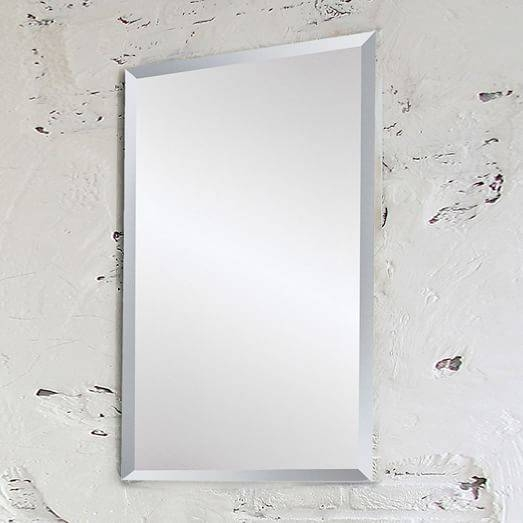 Frameless Wall Mirror | West Elm In Frameless Wall Mirrors (#18 of 30)