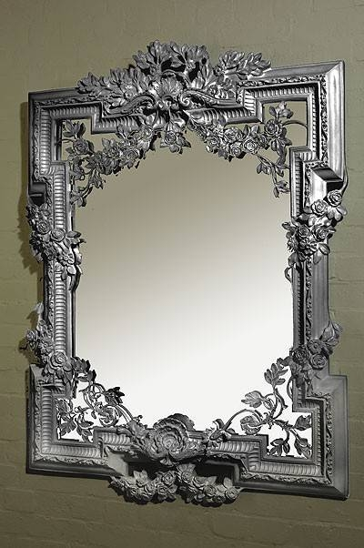 Francesca Silver Gilt Leaf Bevelled Mirror – Chic Seasons Inside Silver Gilt Mirrors (#9 of 20)