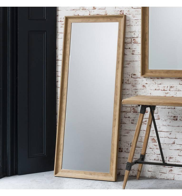 Francis Oak Effect Leaner Mirror 152 X 63 Cm Francis Oak Effect With Regard To Large Oak Framed Mirrors (#9 of 20)