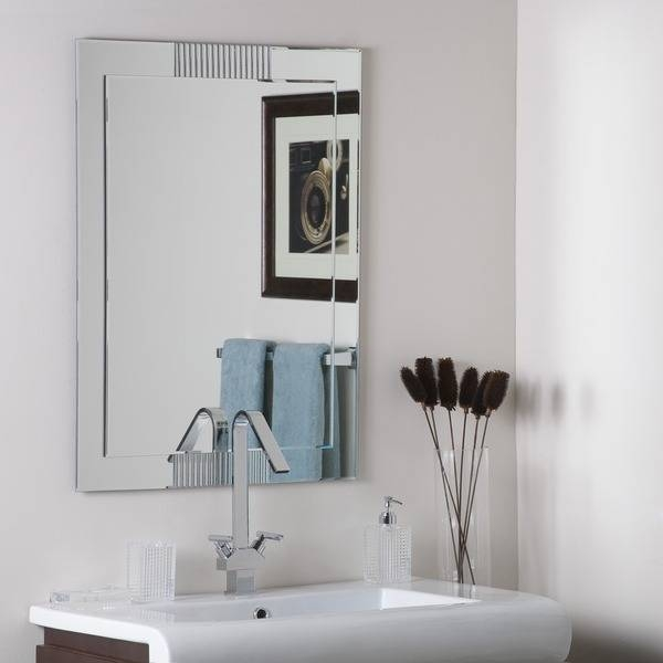 Francisca Large Frameless Wall Mirror – Free Shipping Today Throughout Large Frameless Wall Mirrors (#12 of 20)