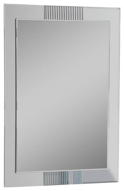 Francisca Large Frameless Wall Mirror – Modern – Wall Mirrors – With Large No Frame Mirrors (#12 of 20)