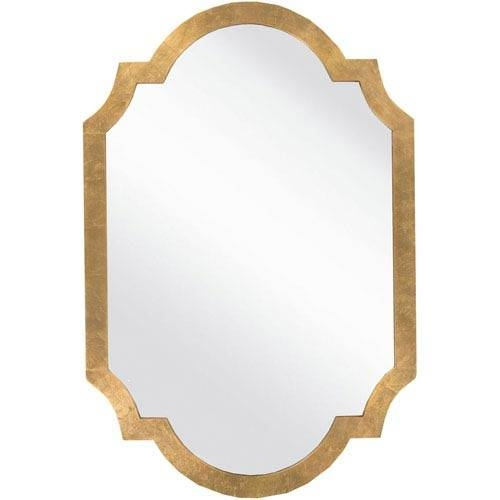 Franklin Aged Gold Decorative Arched And Crowned Mirror Surya Wall Regarding Gold Arch Mirrors (#9 of 20)
