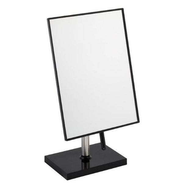 Free Standing Bathroom Or Dressing Table Mirror 22Cm X 16Cm Black With Black Free Standing Mirrors (#13 of 30)