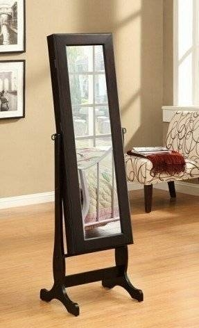 Free Standing Jewelry Armoire With Mirror – Foter Pertaining To Free Standing Dressing Mirrors (#16 of 20)