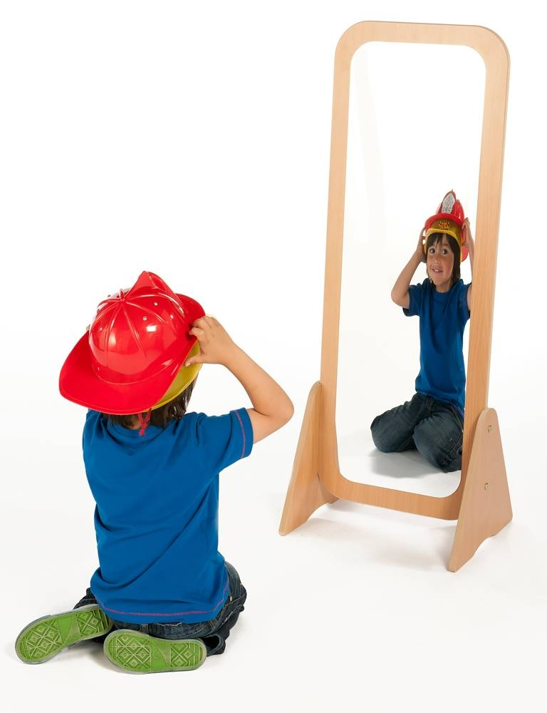 Free Standing Mirror | Childrens Wooden Dressing Up Mirror Uk Inside Free Standing Dress Mirrors (#16 of 20)