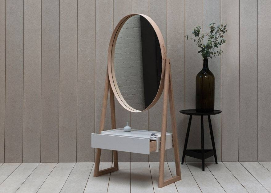 Free Standing Mirror / Contemporary / Oval / Tilting – Iona – Pinch For Free Standing Oval Mirrors (#12 of 20)
