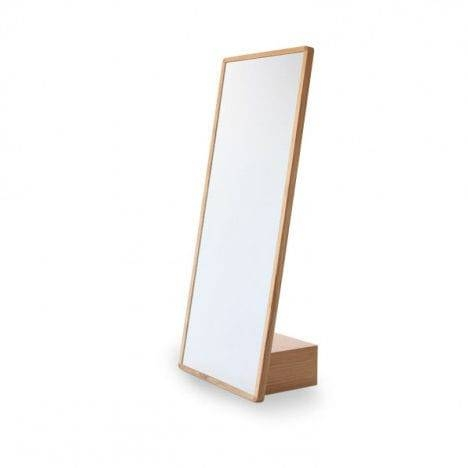 Free Standing Mirror / Contemporary / Rectangular / Oak – Andrea With Free Standing Oak Mirrors (#9 of 15)