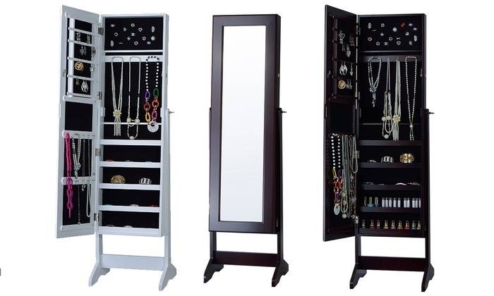Free Standing Mirror Jewelry Cabinet | Mf Cabinets Within Cheval Free Standing Mirrors (#22 of 30)