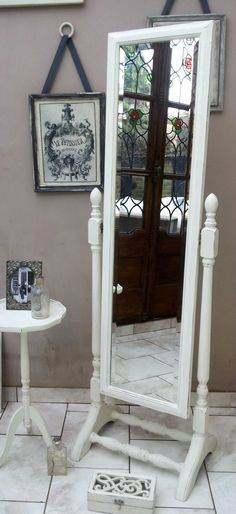 Free Standing Mirror Makeover – Google Search | Hacks | Pinterest Throughout Shabby Chic Floor Standing Mirrors (#28 of 30)