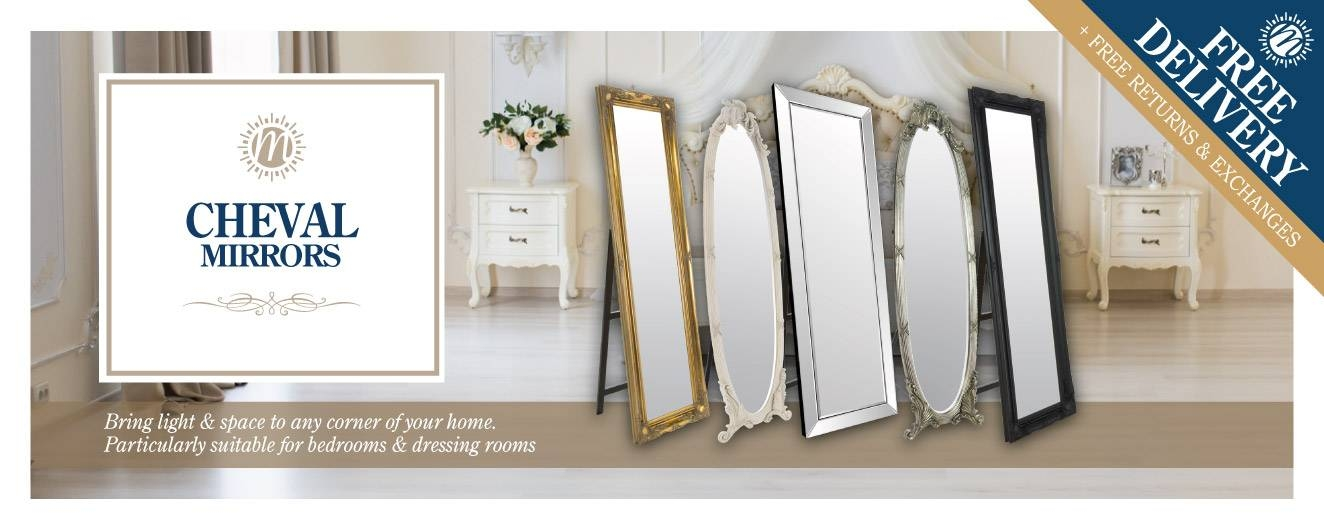 Free Standing Mirrors – Cheval Decorative | Mirror Outlet Pertaining To Cheval Freestanding Mirrors (#22 of 30)